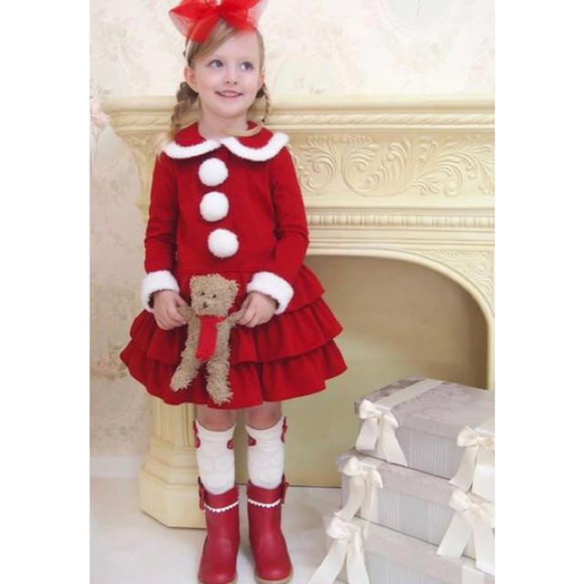 Shirley Temple(シャーリーテンプル)のShirleyTemple クリスマス サンタ ワンピース 赤 80 キッズ/ベビー/マタニティのベビー服(~85cm)(ワンピース)の商品写真