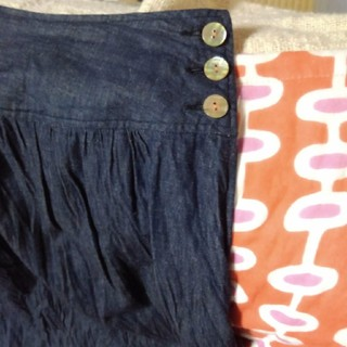 フォーティーファイブアールピーエム(45rpm)のパラスパレスのインディゴスカート(ロングスカート)