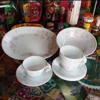 コレール(CORELLE)のはんみ様☆CORELLE コーレル 花柄 カップ&ソーサー ボウル 大皿(食器)