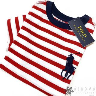 POLO RALPH LAUREN - 新品 ラルフローレン 5/115 レッド ビッグポニー ストライプTシャツ