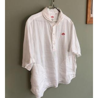 DANTON - ダントン  丸襟 半袖シャツ プルオーバー