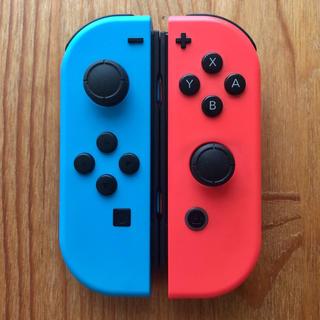 Nintendo Switch - Switch ジョイコン ネオンブルー×ネオンレッド ニンテンドー