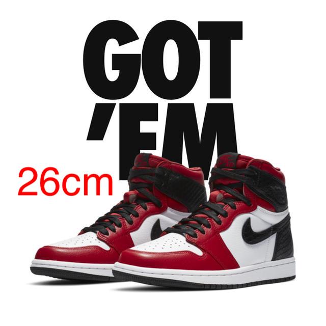 NIKE(ナイキ)のAir Jordan 1 High OG Satin Red  メンズの靴/シューズ(スニーカー)の商品写真