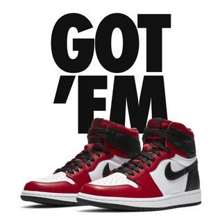 NIKE - Nike air jordan1 wmns Satin Red
