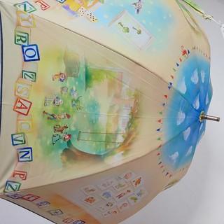 Disney - 【新品タグ付】傘 トイストーリー 一緒に遊ぼう 晴雨兼用 日傘  長傘