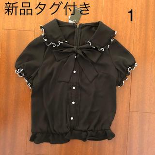 ウィルセレクション(WILLSELECTION)のウィルセレクション トップス ブラウス ブラック 1(シャツ/ブラウス(半袖/袖なし))