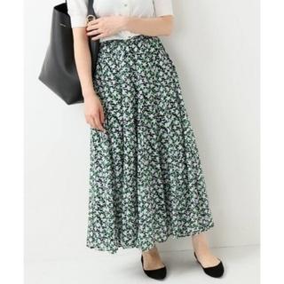 IENA - イエナ♡コットンボイルフラワースカート