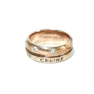 セリーヌ(celine)のセリーヌ リング - ゴールド×クリア(リング(指輪))