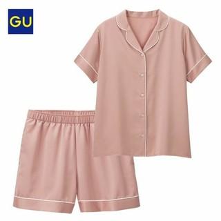 GU - GU サテンパジャマ ピンク S