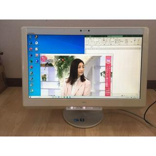 フジツウ(富士通)のFH900/5BM★23型★空気清浄機★3波TV★W録画★Office★訳アリ(デスクトップ型PC)