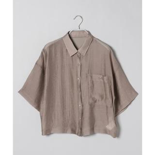ジーナシス(JEANASIS)のシアーレギュラーシャツ(シャツ/ブラウス(半袖/袖なし))