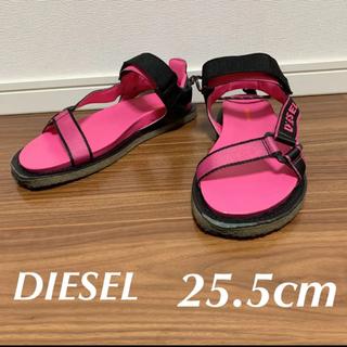 ディーゼル(DIESEL)のDIESEL ディーゼル スポーツサンダル ピンク ブラック 25.5センチ(サンダル)