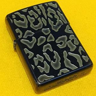 ジッポー(ZIPPO)の ZIPPO レオパード刻印 ダークブルー(タバコグッズ)