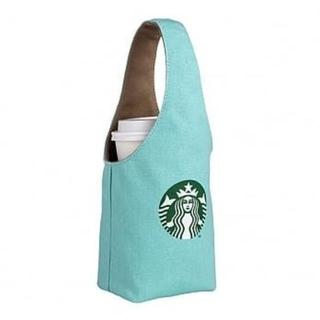 Starbucks Coffee - スターバックス:ロゴ ミント色 タンブラーバッグ 台湾 スタバ