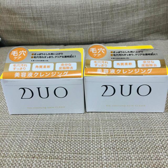 DUO(デュオ) ザ クレンジングバーム クリア(90g)」 2個セット コスメ/美容のスキンケア/基礎化粧品(クレンジング/メイク落とし)の商品写真
