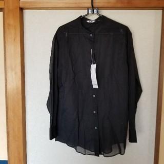 UNIQLO - シアーバンドカラーシャツ M