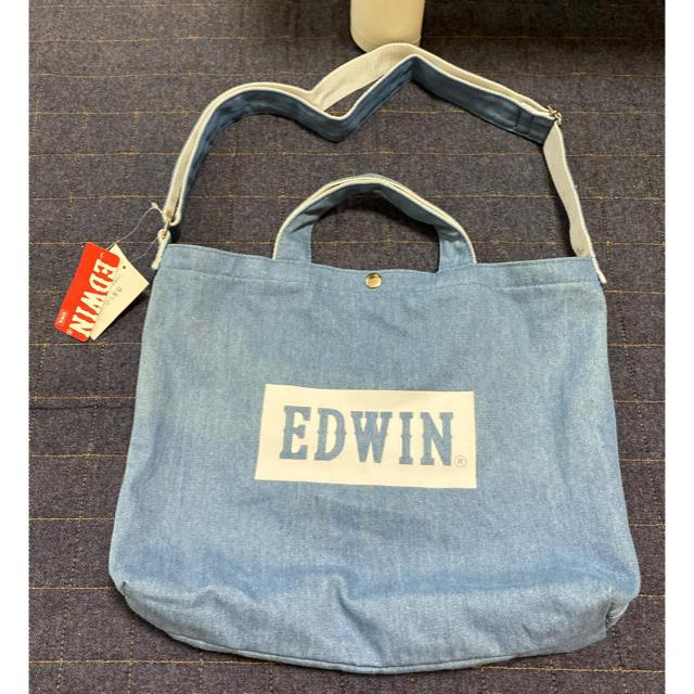 EDWIN(エドウィン)の新品  EDWIN  エドウィン  2wayショルダートートバッグ  デニム メンズのバッグ(ショルダーバッグ)の商品写真