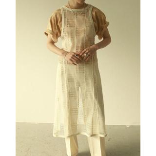 トゥデイフル(TODAYFUL)のTODAYFUL Mesh Apron Dress メッシュエプロン ECRU(その他)