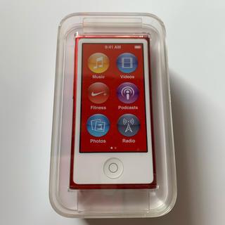 アップル(Apple)のiPod nano(PRODUCT)RED PD744J/A[16GB レッド](ポータブルプレーヤー)