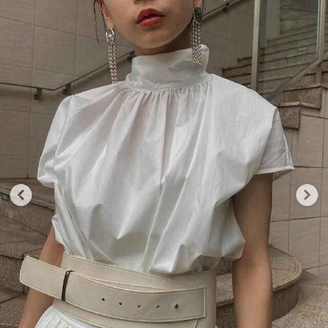 Ameri VINTAGE(アメリヴィンテージ)の新品タグつき 2WAY BACKWARDS SHIRT ブラウス レディースのトップス(シャツ/ブラウス(半袖/袖なし))の商品写真