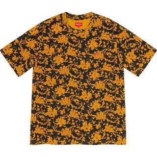 Supreme - Small Box Tee Black Floral M フローラル Tシャツ