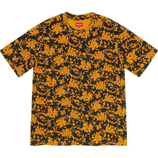 Supreme - Small Box Tee Black Floral S フローラル Tシャツ