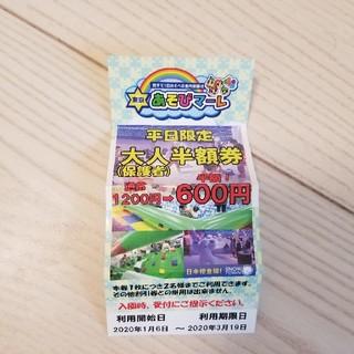 東京あそびマーレ 大人平日半額券(遊園地/テーマパーク)