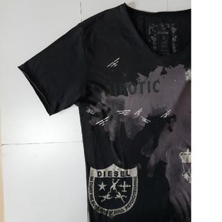 ディーゼル(DIESEL)の【やま 様 専用】DIESEL オリジナルプリント柄Tシャツ メンズ『ブラック』(Tシャツ/カットソー(半袖/袖なし))