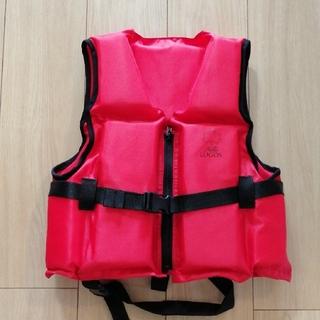 ロゴス(LOGOS)のLOGOS ライフジャケット(赤色)(マリン/スイミング)