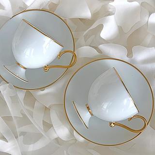 ノリタケ(Noritake)の美品 ノリタケ ダイヤモンドコレクション カップ&ソーサー2客 オールドノリタケ(食器)