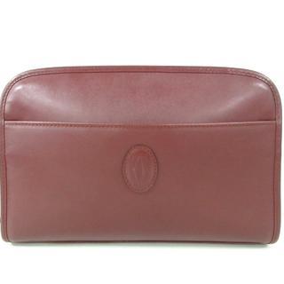 カルティエ(Cartier)のカルティエ セカンドバッグ美品  ボルドー(セカンドバッグ/クラッチバッグ)
