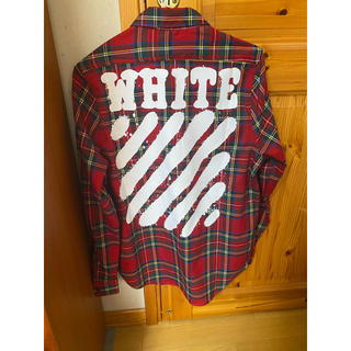オフホワイト(OFF-WHITE)のオフホワイトチェックシャツ(シャツ)