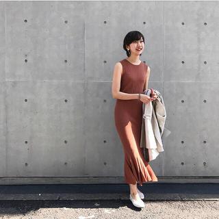 DEUXIEME CLASSE - 完売商品【JANESMITH】マーメイドフレアリブロングワンピース 定価3万円