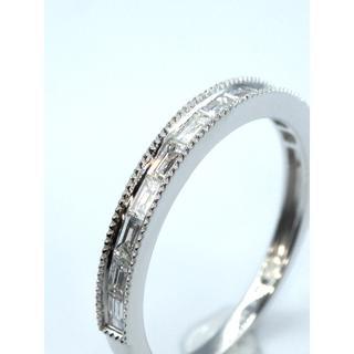 本物K18WG0.33ctダイヤモンド リング 送料無料(リング(指輪))