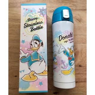 Disney - 水筒 ステンレスボトル ワンプッシュ ドナルド デイジー 真空二重 保温保冷両用