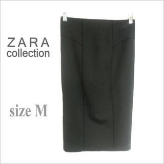 ZARA - 《ZARA collection / ザラ》黒ペンシルタイト膝丈スカート*M