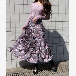 rienda - Paint flower J/W   スカート rienda  darich