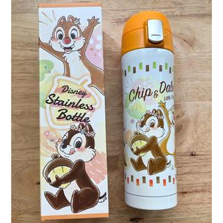 Disney - 水筒 ステンレスボトル ワンプッシュ チップ デール 真空二重 保温保冷両用