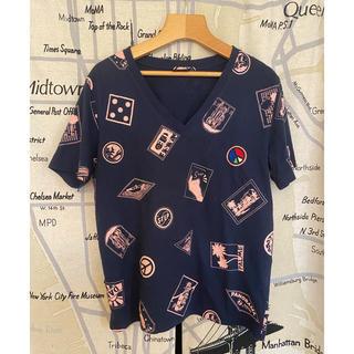ポールスミス(Paul Smith)のポールスミス アイコニック トラベル Tシャツ ネイビー(Tシャツ(半袖/袖なし))