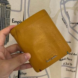 ポールスミス(Paul Smith)のポールスミス マルチストライプ 山羊革 折り財布 マスタード(折り財布)