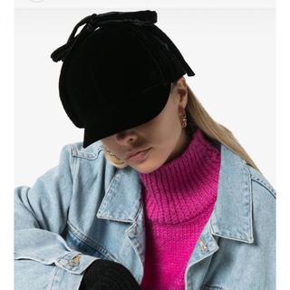 ミュウミュウ(miumiu)のmiumiu ベルベット キャップ 帽子(キャップ)