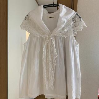 ツムグ(tumugu)のツムグ tumugu セーラーカラーブラウス ホワイト(シャツ/ブラウス(半袖/袖なし))
