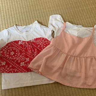 ニシマツヤ(西松屋)の夏服 女の子(Tシャツ/カットソー)
