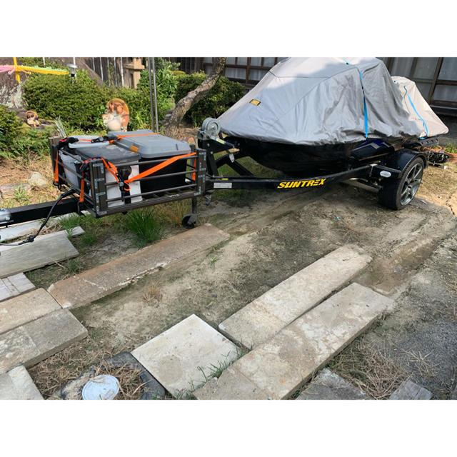 値下げしましたH27.5登録サントレックス500㌔積みトレーラー ジェットスキー 自動車/バイクの自動車(車体)の商品写真