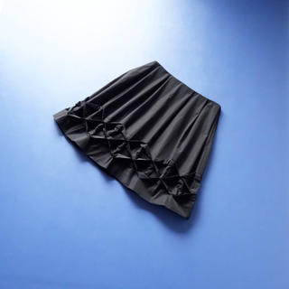 FOXEY - ■FOXEY NY■ 42 黒 裾ディティール スカート フォクシーニューヨーク