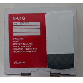 ほぼ未使用◆ドコモ N-01G ホワイト docomo N01G NEC(携帯電話本体)