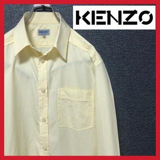 KENZO - KENZO HOMME 90s 長袖シャツ メンズ 無地 黄色 ヴィンテージ