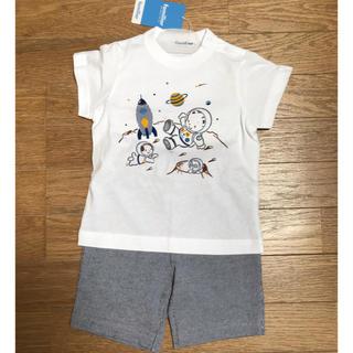 familiar - ファミリア Tシャツ ハーフパンツセット 90