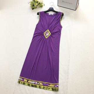 レオナール(LEONARD)の新品同様 レオナール  LEONARD 最高級シルク ドレス ワンピース(ロングワンピース/マキシワンピース)