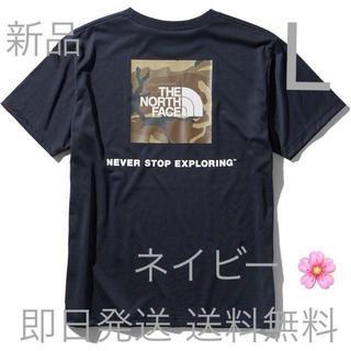 THE NORTH FACE - 送料込み Lサイズ ノースフェイス Tシャツ  ネイビーボックスロゴ